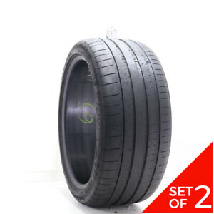 Set Of 2 Used 285 35zr21 Michelin Pilot Super Sport 105y 6 5 7 32