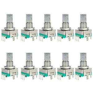 Diyhz 10 Pcs Ec11 Rotary Encoder Dode Switch Audio Digital Potentiometer With