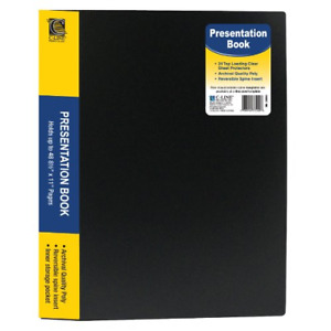 C line 24 pocket Bound Sheet Protector Presentation Book 48 page Capacity For