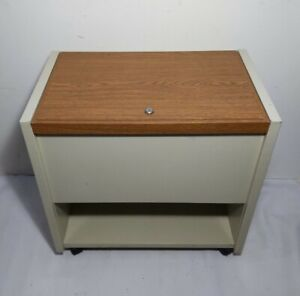 Marvel Metal Products Usa Vintage Top Load Rolling Filing File Cabinet Cart