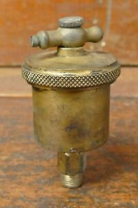 Vintage Lunkenheimer Ideal No 1 T handle Automatic Brass Grease Cup Hit Miss