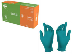 Sw Nitrile Latex free Gloves 5 Mil Thick 100 box new Sealed Boxes