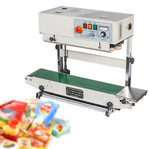 700w Continuous Band Sealer Industrial Vertical Bag Sealing Machine 0 16 M Min