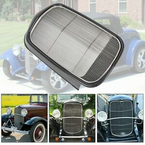 For 1932 Ford Steel Front Grille Shell Stainless Grill Without Crank Hole