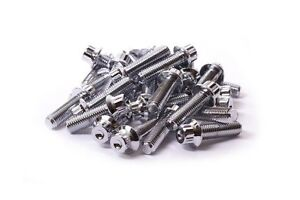 80x Chrome Split Rim Assembly Bolts M7 X 24mm Bbs Rm Lm Oz Wheels Ht Screws