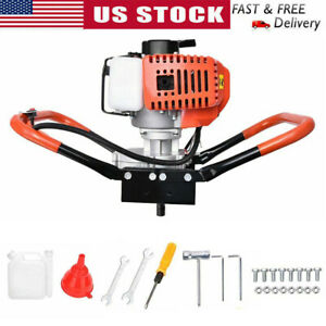 2 2hp Earth Auger Gas Powered Post Hole Digger 52cc 1 9kw 2 stroke Power Engine