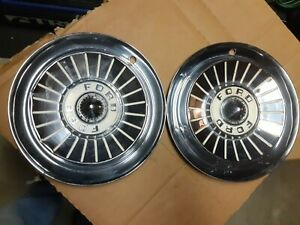 2 1957 Ford Full Hubcaps