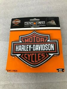 Harley Davidson Cycle Logo Trailer Hitch Plug Cover Universal Hitch Receiver New