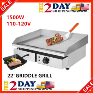 Electric Griddle Flat Top Grill 1500w 22 Hot Plate Bbq Countertop Home Us