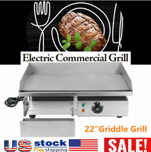New Electric Griddle Flat Top Grill 1500w 22 Hot Plate Bbq Countertop Home Us