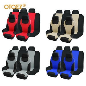 9pcs Universal Car Seat Covers Breathable Mesh Fabric Interior Cushion Protector