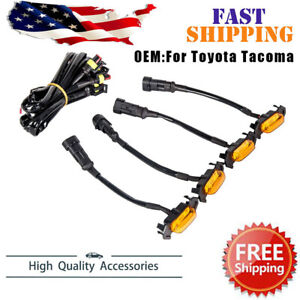 New 4 Pack Led Amber Grille Lights Fit For 2016 2018 2020 Toyota Tacoma Trd Pro