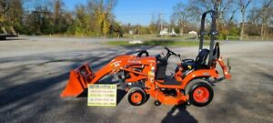 2018 Kubota Bx1880 Compact Loader Tractor W mower Only 31 Hours Warranty