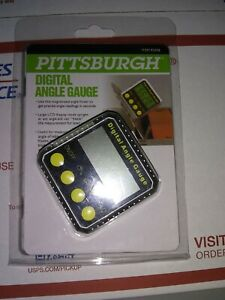 Pittsburgh Digital Angle Gauge 63615 Magnetized New