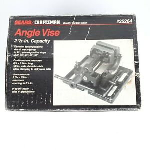 Vtg Craftsman 925264 Machinist 2 1 2 Milling Drill Press Angle Vise New In Box