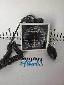 Welch Allyn Tycos Wall Mount Aneroid Sphygmomanometer Gauge With Adult Cuff