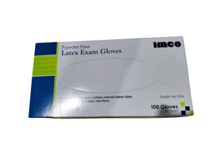 Latex Exam Gloves Powder Free 100 Count