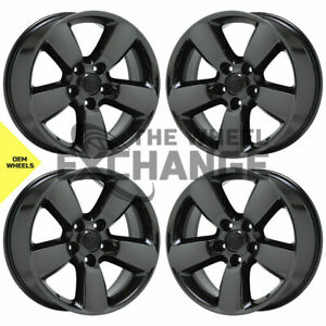 20 Dodge Ram 1500 Truck Black Chrome Wheels Rims Factory Oem 2495 Exchange