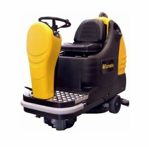 Tornado Br 28 27 Ride on Automatic Scrubber With 24v Wet Acid Batteries