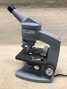 American Optical Model Fifty Monocular Microscope W 3 Objectives