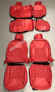 2013 2018 Jeep Wrangler Jk Custom Leather Seat Covers Upgrade Red W Diamond