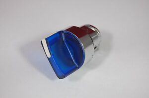 2pc 22mm Select Selector Switch Head 3 Positon Fits Zb4bk1563 Blue Momentary
