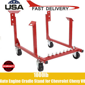 New Engine Cradle Stand Chevrolet Chevy Chrysler V8 1000lb With Dolly Wheels Usa