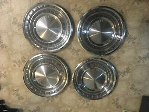 1962 1963 Lincoln Continental 14 Wheel Cover Oem Hubcaps
