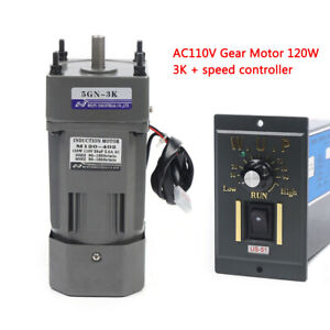 Ac Gear Motor Electric Motor Variable Speed Reduction Controller 450 Rpm 110v