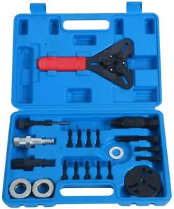 21pcs A C Compressor Clutch Hub Remover Kit Air Conditioning Puller Removal Tool