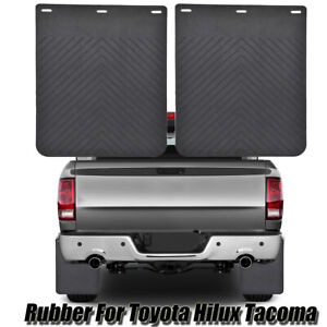 2x Rubber Splash Guards For Toyota Tacoma Hilux Vigo Mudflaps Mud Flaps Mudguard
