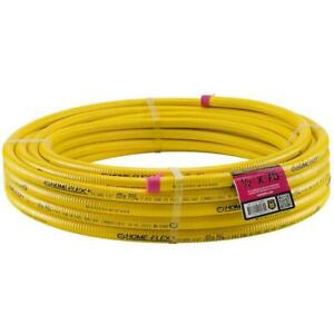 Home flex Tubing 1 2 In X 75 Ft Yellow Csst Corrugated Stainless Steel