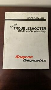 Snap On Mt2500 Fast Track Troubleshooter Gm Ford Chrysler Jeep User Manual 1998