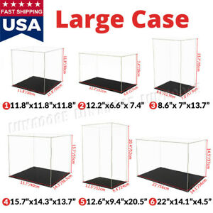 Large Acrylic Display Case Collectibles Box Dustproof Self install Diecast 1 18