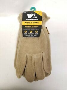 Wells Lamont Work home Heavy Durable Cowhide Gloves New