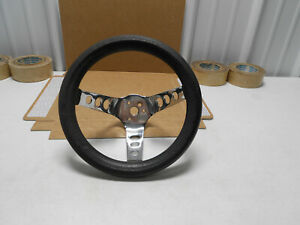 1960s Cal Custom 10 Inch Black Steering Wheel 5 1 2 Deep Chevy Ford Mopar