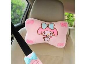 Cute 2pcs My Melody Plush Car Seat Head Rest Cushion Pillows Neck Rest Pillow
