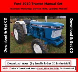 Ford 1910 Tractor Manual Set technical Workshop Service Parts Operator Manual