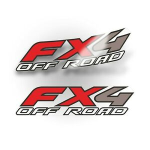 Ford Fx4 Decal Off Road Sticker Ford F250 F350 F450 Super Duty Truck Set Of 2