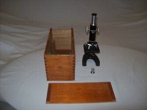 Edmond Scientific Microscope 300x Wooden Case 50x Eye Piece