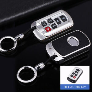 6 Button Aluminum Alloy Car Smart Key Shell Case Fob For Toyota Sienna 2011 2019