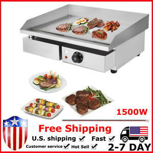 22 Grill Griddle Electric Non Stick Flat Top Indoor Countertop Portable Large L