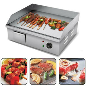 Commercial Electric Countertop Griddle Indoor Bbq Nonstick Cooking Smokeless Us