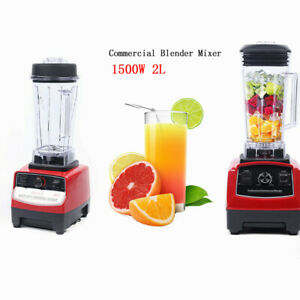 2l 1500w 2hp Heavy Duty Commercial Grade Electric Mixer Juicer Blender Processor