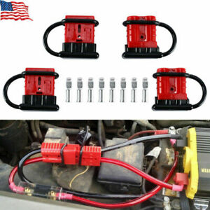 4pcs Battery Quick Connect Disconnect Wire Harness Plug Connector Winch Trailer