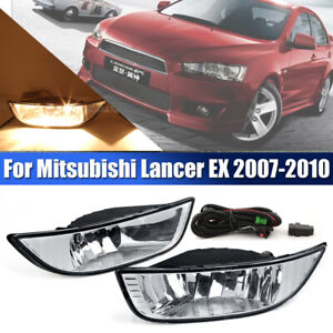 Fog Light W Bulbs Wiring Switch Kit For Mitsubishi Lancer Ex 2007 2012 Assembly
