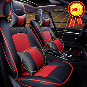 Full Car Seat Cover For Ford F 150 Pu Leather Front Rear 5 Seit W Pillow Cushion