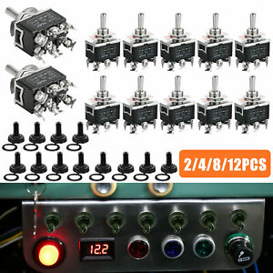 Waterproof 6pin Dpdt Momentary Toggle Switch Boot Cap On off on Amp 15a 380v