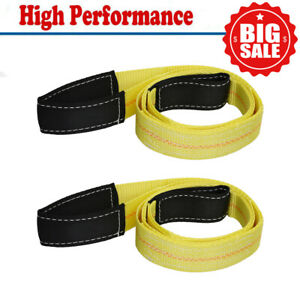 2 Pack 6 Tree Saver Trunk Protector Recovery Winch Tow Snatch Strap 10 000 Lb