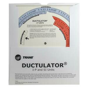 Ductulator Duct Sizing Tool Slide Chart Graph Includes Protective Sleeve